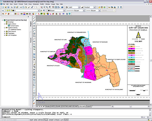 Cauayan City's digital soil map drawn using Amellar GIS customized tools and utilities.